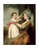 A Portrait of Elizabeth Mortlock (B.1756) and Her Son John Mortlock the Younger, 1779 Giclee Print by John Downman
