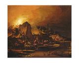 A Nocturnal Scene Giclee Print by Egbert van der Poel