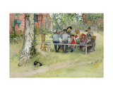 Breakfast under the Big Birch, from 'A Home' Series, C.1895 Giclee Print by Carl Larsson
