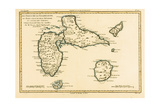 The Islands of Guadeloupe, Marie-Galante, La Desirade, and the Isles Des Saintes, French Colonies… Giclee Print by Charles Marie Rigobert Bonne