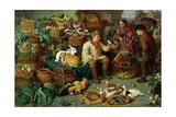 Market Scene Reproduction procédé giclée par Henry Charles Bryant