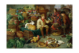 Market Scene Giclee Print by Henry Charles Bryant