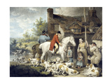 Outside a Country Alehouse, Engraved by William Ward, 1797 Giclee Print by  G. Morland and J. Ward