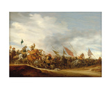 A Battle Scene, 1653 Giclee Print by Salomon van Ruisdael or Ruysdael