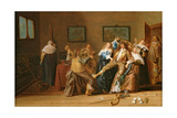 A Merry Company in an Interior, 1640 Giclee Print by Dirck Hals