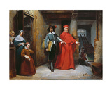 A Cardinal Looking for Ribera in His Studio in Naples, 1839 Giclee Print by Claude Jacquand