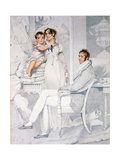 Mr and Mrs Richmond Thackeray and their Son, William Makepeace Thackeray (1811-63) 1814 Giclee Print by George Chinnery