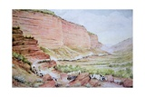 Mormon Wagon Train Passing Though Echo Canyon, East of Salt Lake City, Utah Giclee Print by William Henry Jackson