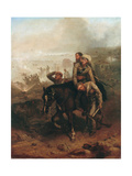 Lieutenant William George Cubitt (1835-1903) Earning the Victoria Cross at Lucknow During the… Giclee Print by Chevalier Louis-William Desanges