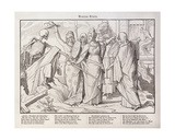 First Page from 'Another Dance of Death' Published by Georg Wigand in Leipzig, 1849 Giclee Print by Alfred Rethel