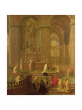 The Mass of Canon Antoine De La Porte Or, the Altar of Notre Dame, 1708-10 Giclee Print by Jean-Baptiste Jouvenet