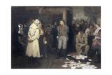 Arrest of a Revolutionary Propagandist Giclee Print by Ilya Efimovich Repin