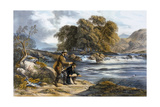 Salmon Fishing Giclee Print by Alexander Rolfe