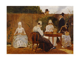 The Chalon Family in their London Town Garden, Early 1800s Giclee Print by Jacques-Laurent Agasse