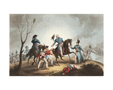 Death of Sir John Moore (1761-1809) 17th January 1809, from 'The Martial Achievements of Great… Giclee Print by William Heath