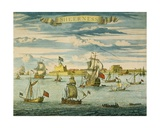 Sheerness, Kent, Engraved by Johannes Kip (1652-1722) Giclee Print by Isaac Sailmaker