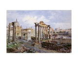 The Forum, Rome, 1878 Giclee Print by Vincenzo Marchi