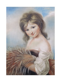 The Harvest Girl, C.1780 Giclee Print by John Russell