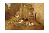 The Farmyard Giclee Print by Philibert-Leon Couturier