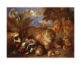 Orpheus Charming the Animals Giclee Print by Giovanni Francesco Castiglione