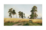 The Field of Wheat, 1878 Giclee Print by Ivan Ivanovitch Shishkin