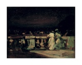 Watching the Fireworks, St. Cloud (On the Terrace) C.1893 Giclee Print by Charles Edward Conder