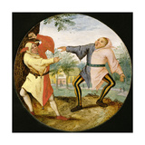 Les Deux Bouffons Giclee Print by Pieter the Younger Brueghel