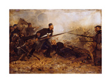 Private John Mcdermond (1832-68) at the Battle of Inkerman on 5th November 1854, C.1860 Giclee Print by Chevalier Louis-William Desanges
