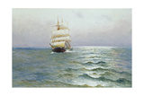 Tall Ship Giclee Print by Alfred Serenius Jensen