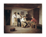 Sailors Playing a Board Game in a Tavern Giclee Print by Christian Andreas Schleisner