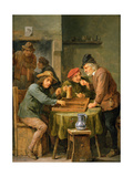 The Game of Backgammon, 1670 Giclee Print by David the Younger Teniers