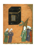 Mohammed (C.570-C.632) before the Kaaba in Mecca, from the 'siyer-I Nebi' Giclee Print