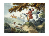 Hunting, Engraved by J. Wright, 1794 Giclee Print by George Morland