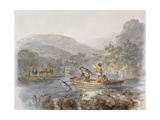 Salmon Spearing Giclee Print by Julius Caesar Ibbetson
