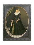 Oval Portrait of a Lady Giclee Print by Pieter the Elder Neefs