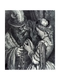 Illustration for 'Bluebeard' by Charles Perrault (1628-1703) 1893 Giclee Print by Gustave Doré
