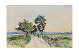 The Cote St. Andre to Grand Lemps Road, 1880 Giclee Print by Johan-Barthold Jongkind