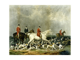 The Earl of Derby's Stag Hounds, Engraved by R. Woodman, 1823 Giclee Print by James Barenger