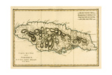 The Island of Jamaica, from 'Atlas De Toutes Les Parties Connues Du Globe Terrestre' by Guillaume… Giclee Print by Charles Marie Rigobert Bonne
