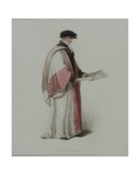 Doctor of Music, Engraved by J. Agar, Published in R. Ackermann's 'History of Oxford', 1813 Giclee Print by Thomas Uwins