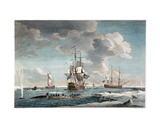 Greenland Fishery, Engraved by John Boydell (1719-1804) 1754 Giclee Print by Charles Brooking