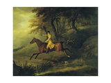 Thomas Oldaker, Huntsman to the Berkeley, on His Hunter 'Magic' Breaking Cover, 1811 Giclee Print by John Nott Sartorius