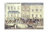 West Country Mail at the Gloucester Coffee House, Piccadilly, Engraved by C. Rosenberg Giclee Print by James Pollard