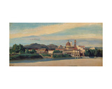 View of an Italian Village Giclee Print by Jean-Baptiste-Camille Corot