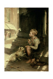 A Share of the Crust, 1871 Giclee Print by Augustus Edward Mulready
