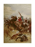 Lieutenants Nelville and Coghill Saving the Colours, 1881 Giclee Print by Alfred A.B. de Neauville