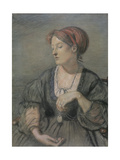Emma Madox Brown (1829-90) 1869 Giclee Print by Ford Madox Brown
