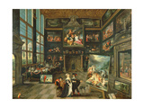 Interior of a Gallery, 1637 Giclee Print by Cornelis de I Baellieur