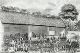 Adai Religious Festival at the Court of the King of Ashanti in March 1820, from 'Journal of a… Photographic Print by Joseph Dupuis