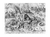 Avarice, from the Seven Deadly Sins, Engraved by Pieter Van Der Heyden (C.1530-72) 1558 Giclee Print by Pieter Bruegel the Elder